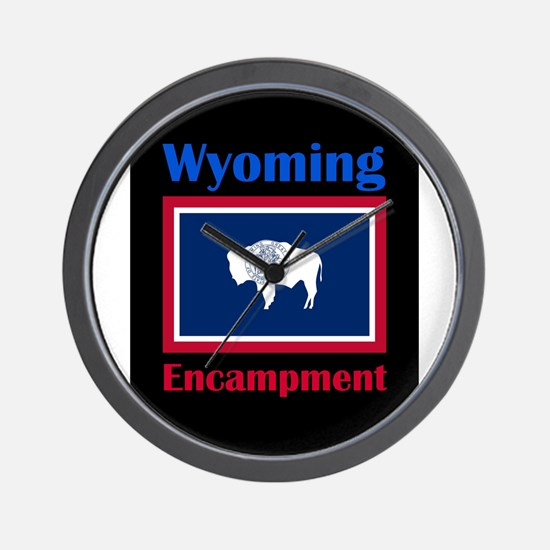 Encampment Wyoming Wall Clock