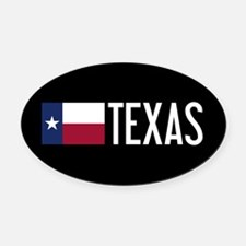 Texas: Texan Flag & Texas Oval Car Magnet