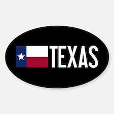 Texas: Texan Flag & Texas Sticker (Oval)