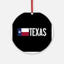 Texas: Texan Flag & Texas Round Ornament