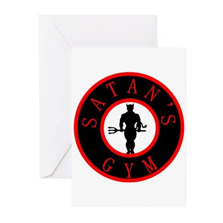 Satan's Gym 2 Greeting Cards (Pk of 20)
