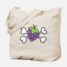 Purple Grapes & Crossbones Tote Bag