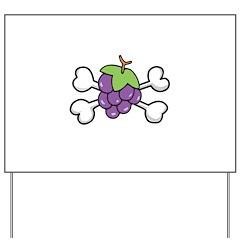Purple Grapes & Crossbones Yard Sign