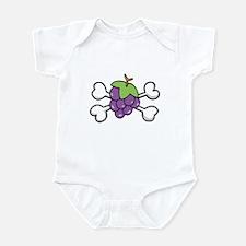 Purple Grapes & Crossbones Infant Bodysuit
