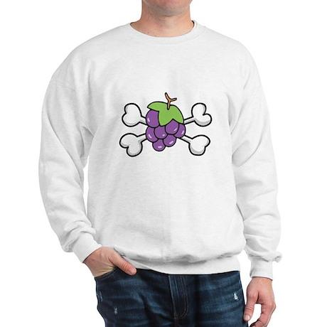 Purple Grapes & Crossbones Sweatshirt