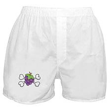 Purple Grapes & Crossbones Boxer Shorts