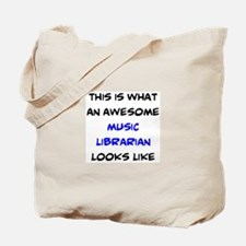 awesome music librarian Tote Bag