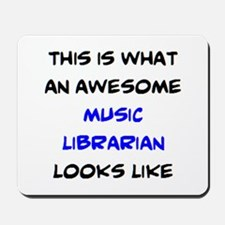 awesome music librarian Mousepad