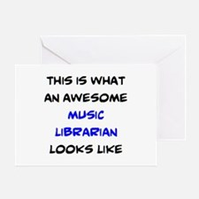 awesome music librarian Greeting Card