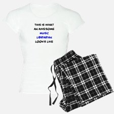 awesome music librarian Pajamas