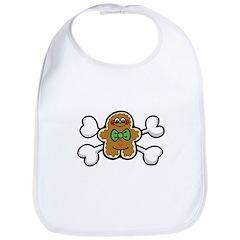 Gingerbread Man & Crossbones Bib