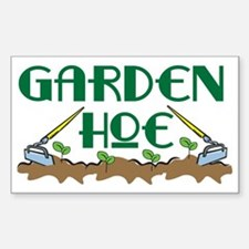 Garden Hoe Rectangle Decal