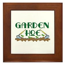 Garden Hoe Framed Tile