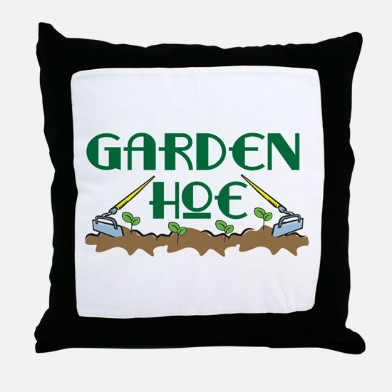 Garden Hoe Throw Pillow