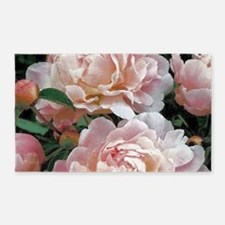 Cute Floral art painting pink Area Rug