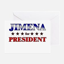 JIMENA for president Greeting Card