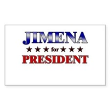 JIMENA for president Rectangle Decal