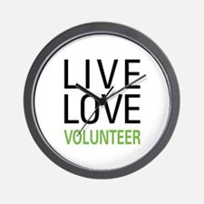 Live Love Volunteer Wall Clock