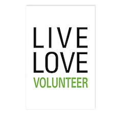 Live Love Volunteer Postcards (Package of 8)