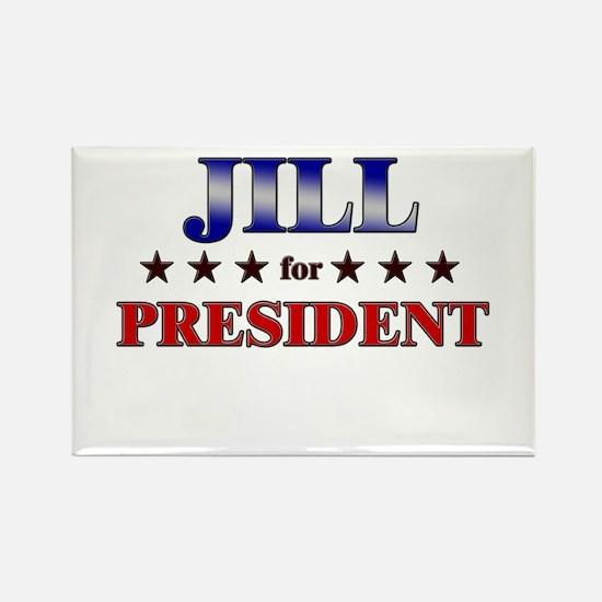 JILL for president Rectangle Magnet
