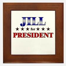 JILL for president Framed Tile