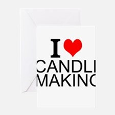 I Love Candle Making Greeting Cards