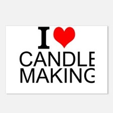 I Love Candle Making Postcards (Package of 8)