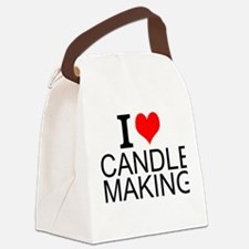 I Love Candle Making Canvas Lunch Bag