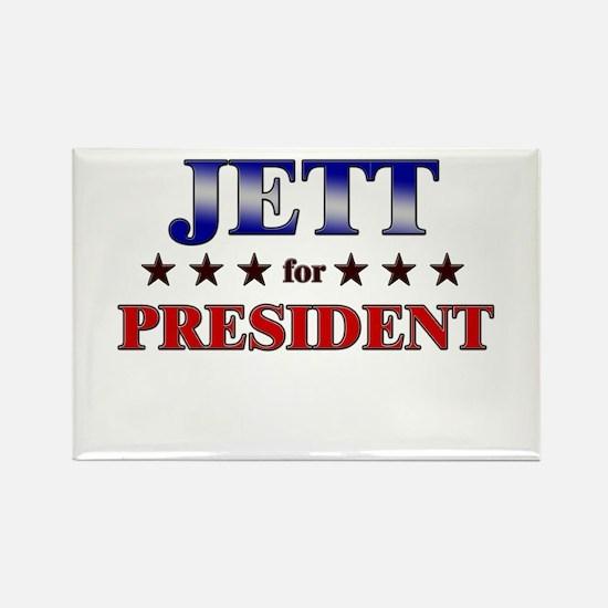 JETT for president Rectangle Magnet