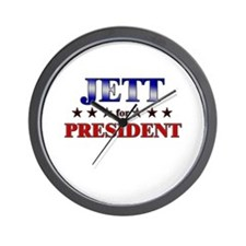 JETT for president Wall Clock