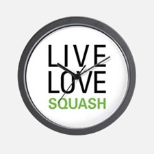 Live Love Squash Wall Clock