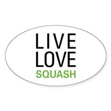 Live Love Squash Oval Decal