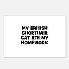 My British Shorthair Cat Ate  Postcards (Package o