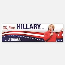 Hillary I Guess Bumper Car Car Sticker