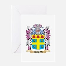 Deacon Coat of Arms (Family Crest) Greeting Cards