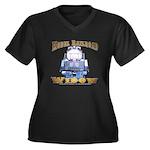 Model RR Widow Women's Plus V-Neck Dark T-Shirt