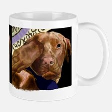 Hunter the Bashful Vizsla Mugs