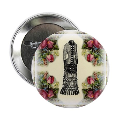 "Four Roses Fashion Plate 2.25"" Button (10 pack)"