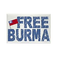 Free Burma 1.2 Rectangle Magnet