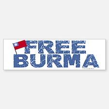 Free Burma 1.2 Bumper Bumper Bumper Sticker