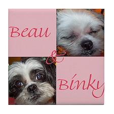 "beau and binky"" Tile Coaster"
