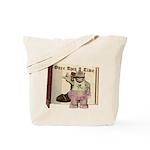 Heather Hippo Tote Bag