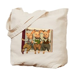 The Three Little Pigs Tote Bag