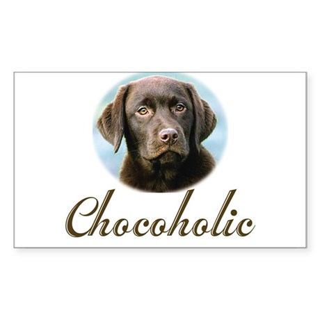 Chocoholic Rectangle Sticker