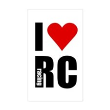 I love RC racing Rectangle Decal