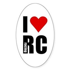 I love RC racing Oval Decal