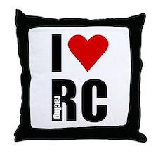 I love RC racing Throw Pillow