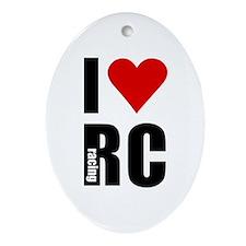 I love RC racing Oval Ornament