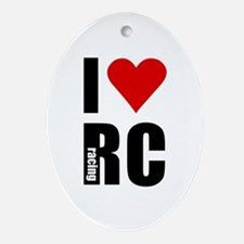 I love RC racing Oval Ornament