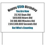 65th birthday Yard Signs